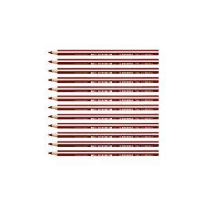 Stabilo Trio Crayon de couleur triangulaire Rouge cerise Lot de 12