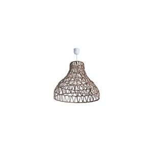 Lussiol 250293 Suspension Rotin, 60 W, Blanc, ø 49 x H 42 cm