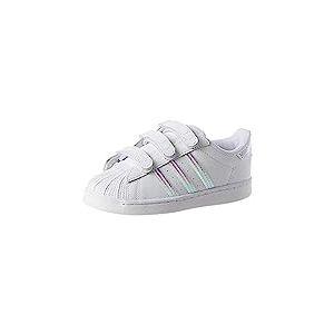 adidas Superstar CF C, Basket Mixte Enfant, FTWR White/FTWR White/FTWR White, 33 EU