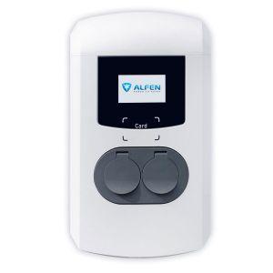 ALFEN Borne de recharge double Eve - 2x (3,7 à 11kW) -10-32A - Réglable - 3G UMTS RFID MID - Type 2 - OCCASION reconditionnée