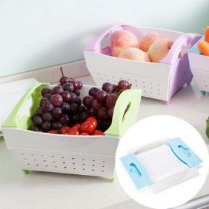 Fruits Vegetables Folding Basket Kitchen Storage Organize Container