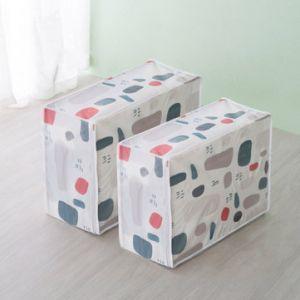 PEVA Flower Printed Quilt Foldable Storage Bag Dustproof Moistureproof  Clothing Organize Case
