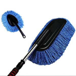 2Pcs Removable Telescopic Wax Nano Fiber Flat Wax Brush Car Dust Brush Household Cleaning Brushes