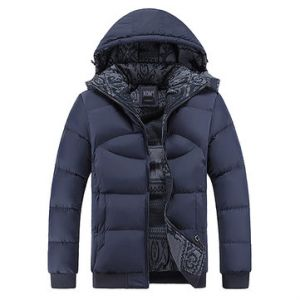 Comfortable Waterproof Detachable Hood Thicken Warm Padded Jacket for Men