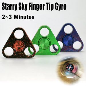 Starry Sky Colorful Triangle Alloy Fingertip Gyroscope Fidget Hand Spinner