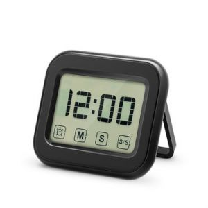 Digital Kitchen Timer Large Touch Sensor LCD Display Magnetic Backing Loud Clock