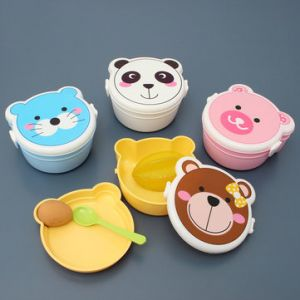 Kawaii ABS Office Household Bento Box Themed Dishes Lunch Box