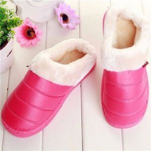 Heel Covering Home Slip On Warm Indoor Flat Slippers