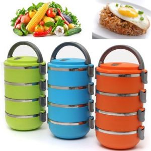 4 Layers Portable Stainless Steel Bento Lunch Box
