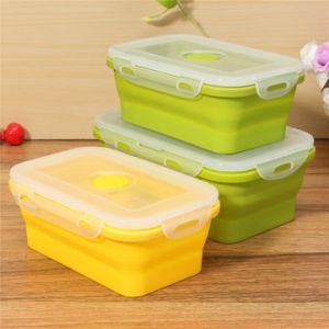 Foldable Silicone Lunch Box BPA Free Bento Collapsible Food Container Tableware Food Box