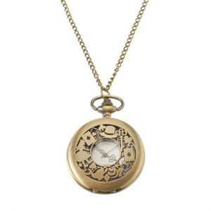 Unisex Retro Watch Hollow Women Hat Poker Pocket watch