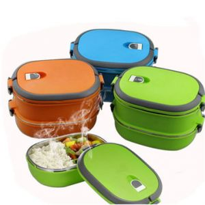 Vacuum Seal Stacking Insulated Lunch Box Stainless Steel Thermal Insulation Bento Box Dual Handle Container