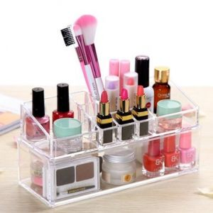 Acrylic Clear Cosmetic Organizer Drawer Elegant Makeup Case Storage Insert Holder Box