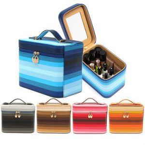 Waterproof Color Changing Cosmetic Tool Case Storage Box Holder Organizer with Mirror