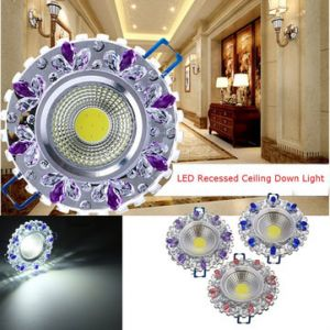 3W Bright 6 LED Recessed Ceiling Down Light Cool White 85-265V