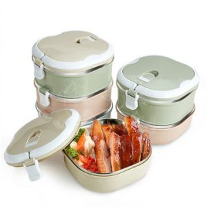 KCASA KC-BCH10 Portable Insulation Lunch Box Stainless Steel Thermal Bento Box Food Container