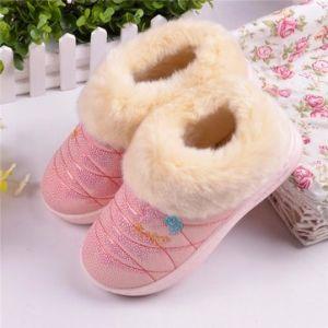Warm Waterproof Floor Home Slipper Casual PU Soft House Slippers