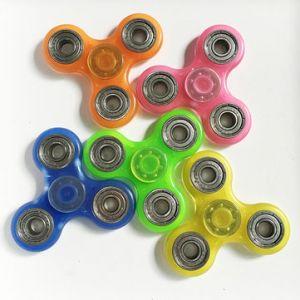 Luminous Hand Spinner Fingertip Fluorescence Gyroscope Children Adult Fidget Funny Focus Toys