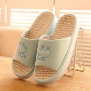 Peep Toe Slip On Pattern Home Floor Indoor Flat Slippers