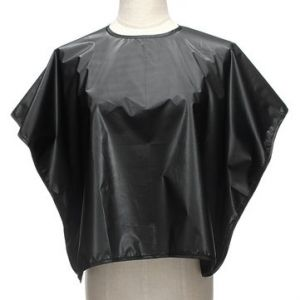 Salon Dye Perm Haircut Black Waterproof Cloak Hairdressing Cap Cloth