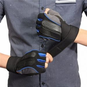 Men Women Weight Lifting Gym Fitness Gloves Workout Training Exercise Half Gloves