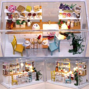Dollhouse Miniature DIY Kit with Cover 3D DIY Wood Magic Kitchen Ideal  Gift Bedroom Living Room Home Decor