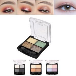 4 Colors Eye Shadow Palette Dark Light Pearl Shining Makeup Cosmetic