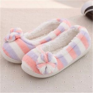 Rainbow Slip On Flat Casual Indoor Home Sweet Slippers