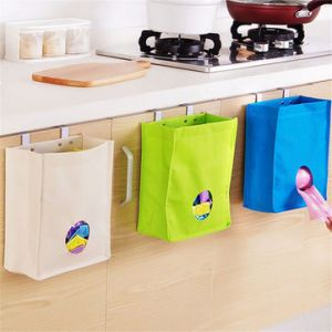 Kitchen Storage Bag Drawer Cabinet Door Back Garbage Bag Holder Hanging Organizer