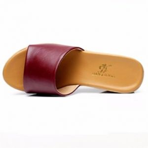 Big Size Leather Platform Beach Peep Toe Slip On Slippers Sandals