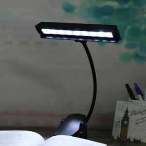 Flexible 9 LED Clip-on Music Stand Reading Light Bed Table Desk Lamp
