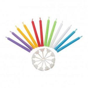 Jeu de bougies multicolores