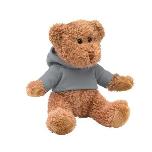 PELUCHE OURSON PERSONNALISABLE AVEC SWEAT CAPUCHE 'TEDDY'