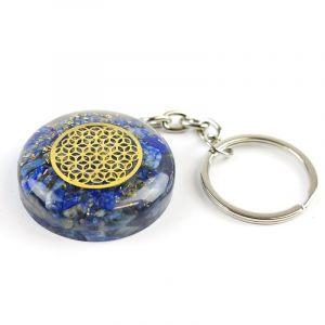 Porte-clé Orgonite avec Fleur de Vie dorée