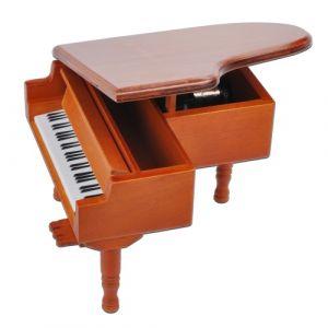 Windup en bois boîte à musique Piano classique mélodie Music Box château dans le ciel mélodie don pour enfants filles