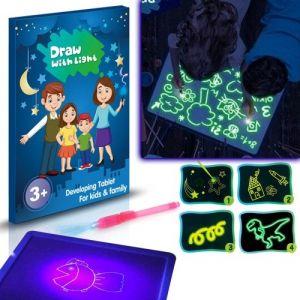 A5 3D Lumineux Planche À Dessin Pad Écriture Peinture Conseil Dessiner avec La Lumière Amusement Et Le Développement De Jouet pour Enfants Cadeau