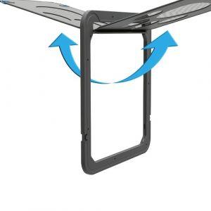 Porte noire verrouillable automatique de porte d'écran de rabat magnétique d'écran pour animaux de compagnie pour le chiot de petit chat de chaton