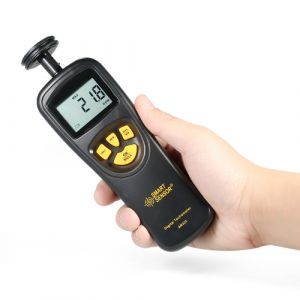 SMART SENSOR Contact de poche LCD Numérique Tachymètre Compteur de vitesse Tachomètre Large Rang de mesure 0.5 ~ 19999 RPM