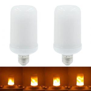 2pcs smd2835 LED flamme scintillement effet ampoules