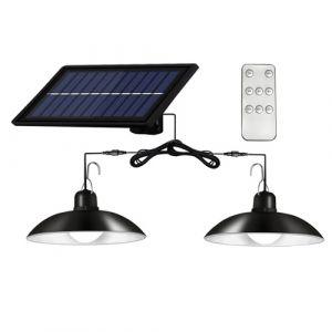 Plafonniers à LED à énergie solaire Dimmable Shed Lights avec télécommande et contrôle d'éclairage avec fonction de minuterie