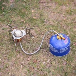 Lixada 3000 W Portable Camping Ustensiles De Cuisine Set Pliant Mini Poêle De Camping Poêle À Gaz Poêle Broyeur avec Adaptateur De Conversion