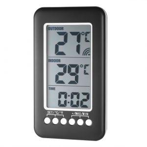 LCD ? / ? Thermomètre intérieur / extérieur numérique Horloge Horloge Mesure de température avec transmetteur