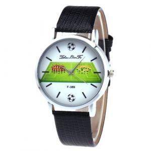F-389 Mode montres Quartz luxe en cuir montre-bracelet style britannique avec le modèle de joueur de football pour la Coupe du Monde de la FIFA