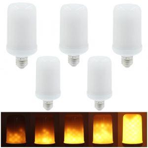 5pcs smd2835 LED flamme scintillement effet ampoules