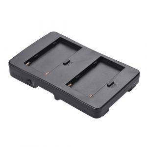 F2-BP NP-F batterie à V-Mount convertisseur de batterie adaptateur plaque Fit F970 F750 F550 pour Canon 5D2 5D3 DSLR caméra LED moniteur de lumière