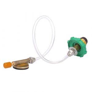 Adaptateur de remplissage de gaz propane de camping Adaptateur de bouteille de coupleur de réservoir plat de bouteille