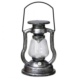 Bougie suspendue à énergie solaire Lampe à huile LED rétro clignotant sans flamme pour tente de jardin Patio