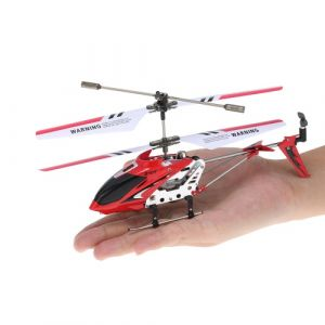 Syma S107G Mini 3 Canaux Infrarouge RC Hélicoptète avec Gyroscope Double Protection Rouge