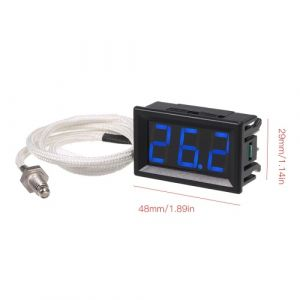 XH-B310 Thermomètre numérique industriel 12V température mètre K-type M6 testeur de thermocouple -30 ~ 800 ? Thermographe haute précision avec affichage à LED