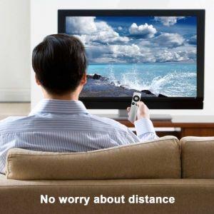 Télécommande de remplacement intelligente pour télécommande Apple TV Mini Size TV Facile à saisir en argent